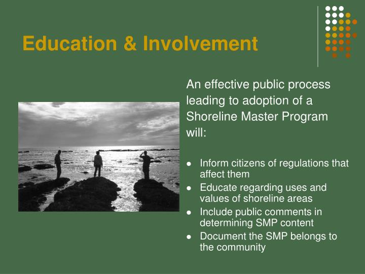 Education & Involvement