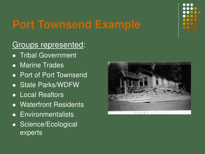 Port Townsend Example