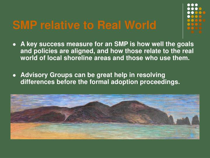 SMP relative to Real World