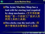 acme machine shop