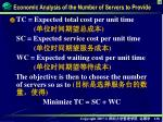 economic analysis of the number of servers to provide1