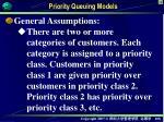 priority queuing models