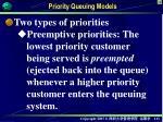 priority queuing models5