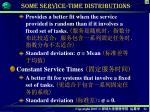 some service time distributions1