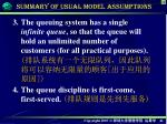 summary of usual model assumptions1