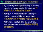 using probabilities as measures of performance2