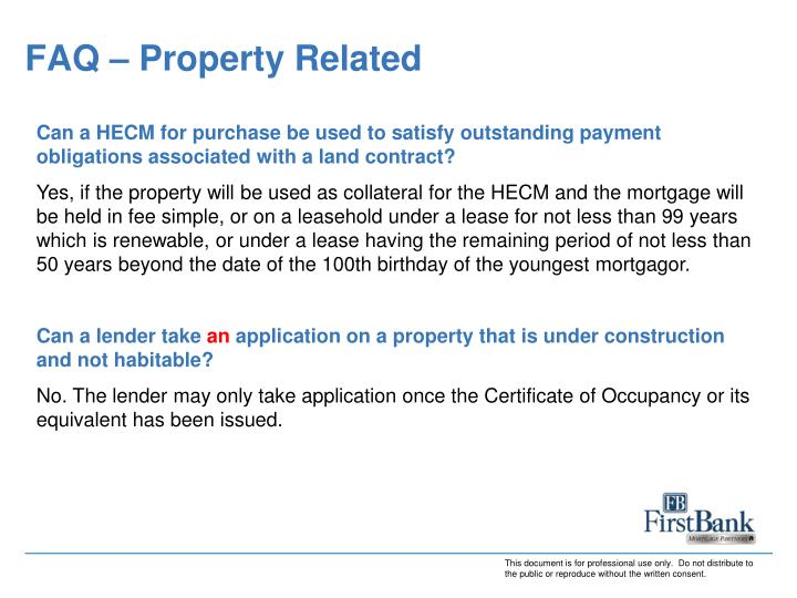 FAQ – Property Related