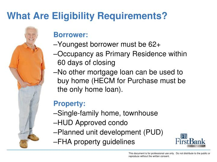 What Are Eligibility Requirements?