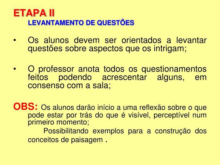 ETAPA II