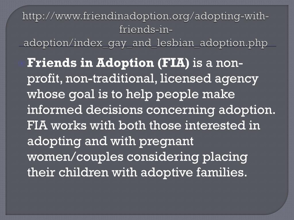 Pros cons gay adoption