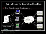 bytecodes and the java virtual machine