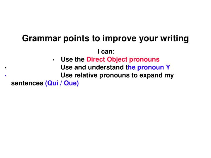 grammar points to improve your writing n.