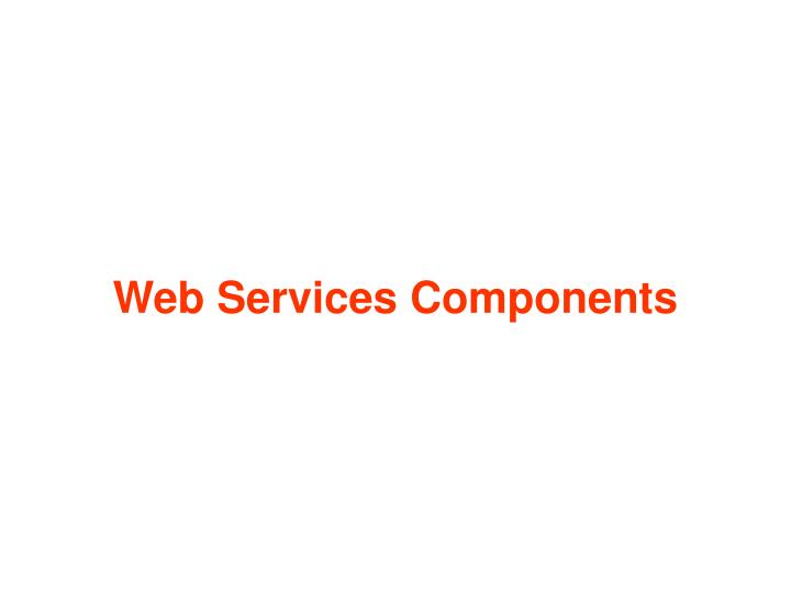 web services components n.