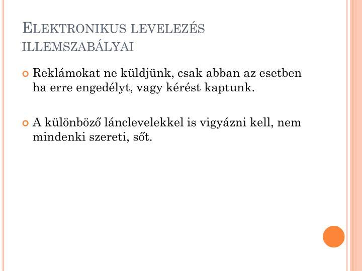 Elektronikus levelezés illemszabályai
