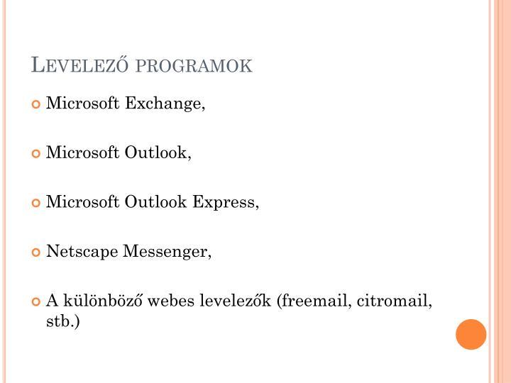 Levelező programok