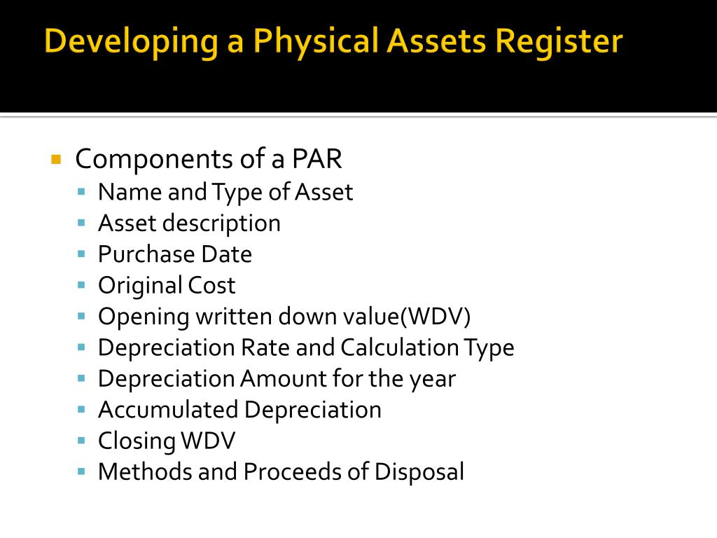 PPT - Managing Physical Assets PowerPoint Presentation - ID