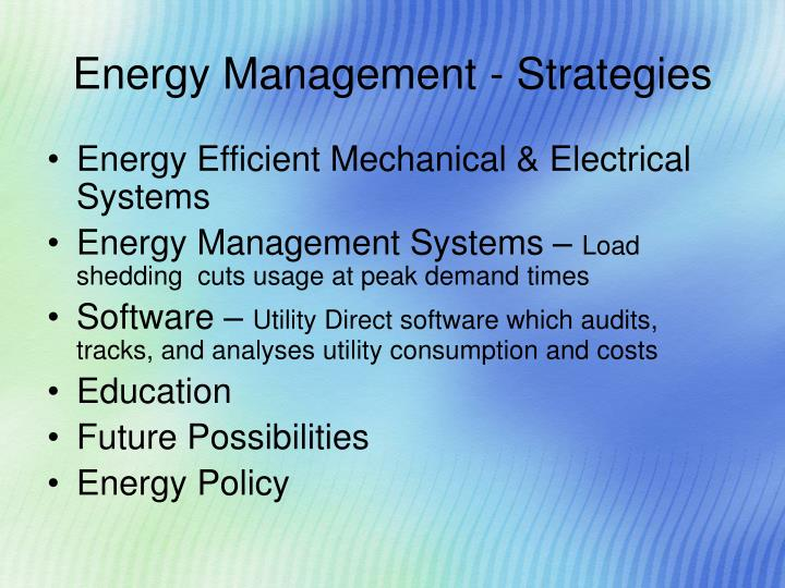 Energy Management - Strategies