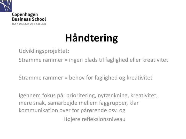 Håndtering