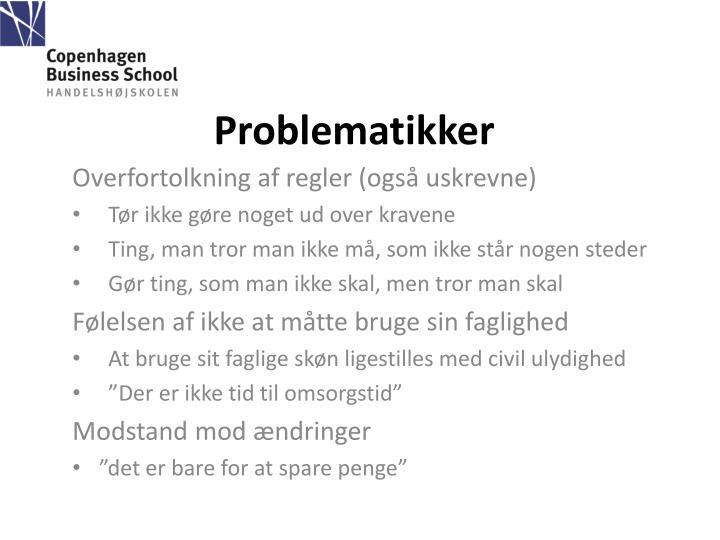 Problematikker