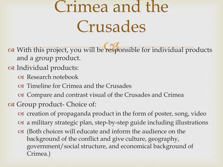 Crimea and the Crusades