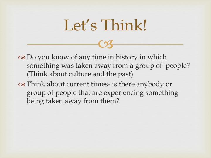 Let's Think!