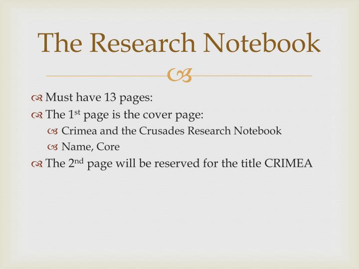 The Research Notebook