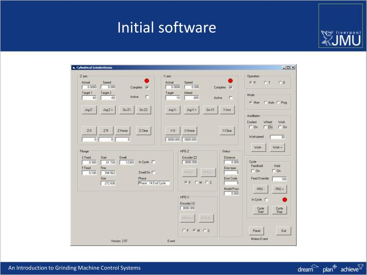 Initial software