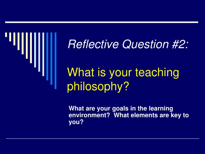 Reflective Question #2: