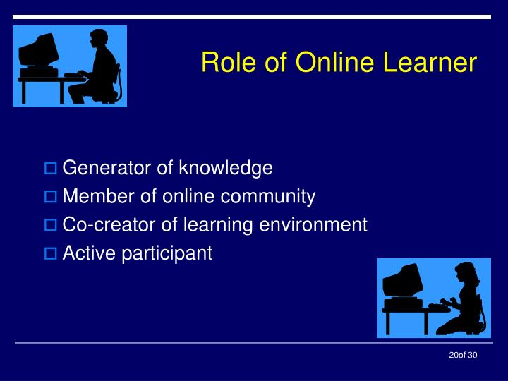 Role of Online Learner