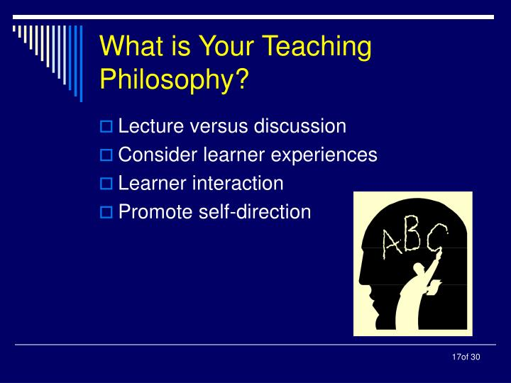 What is Your Teaching Philosophy?