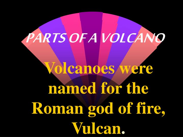parts of a volcano n.