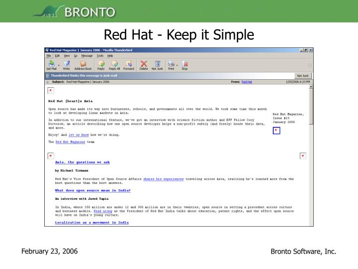 Red Hat - Keep it Simple