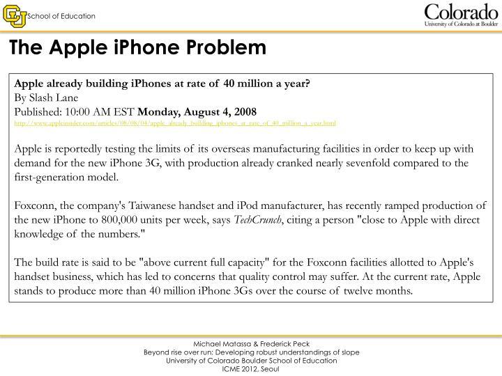 The Apple iPhone Problem