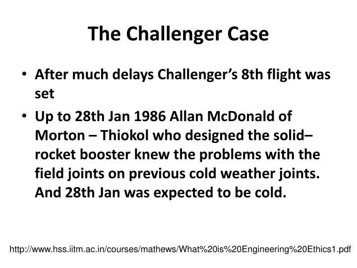 The Challenger Case