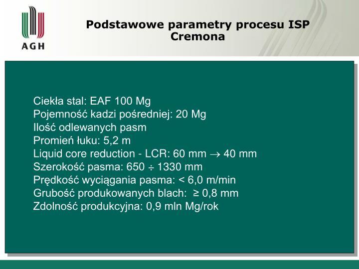 Podstawowe parametry procesu ISP