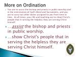 more on ordination