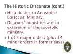 the historic diaconate cont