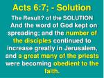 acts 6 7 solution