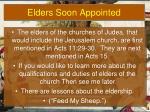 elders soon appointed