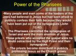 power of the pharisees