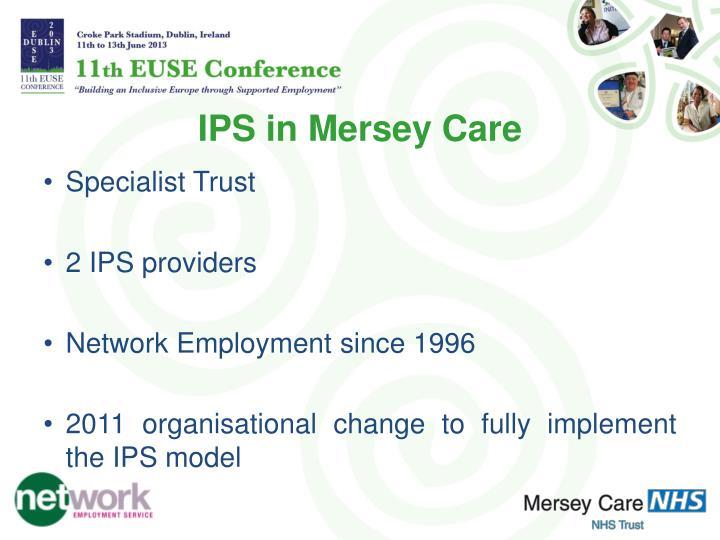 IPS in Mersey Care