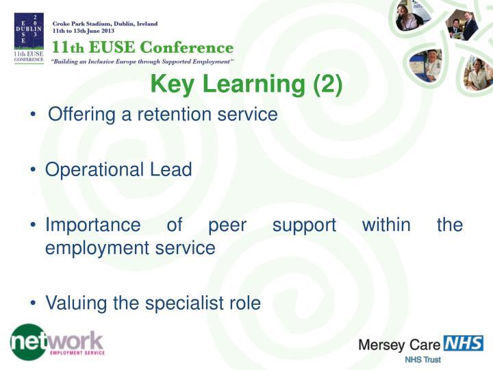 Key Learning (2)