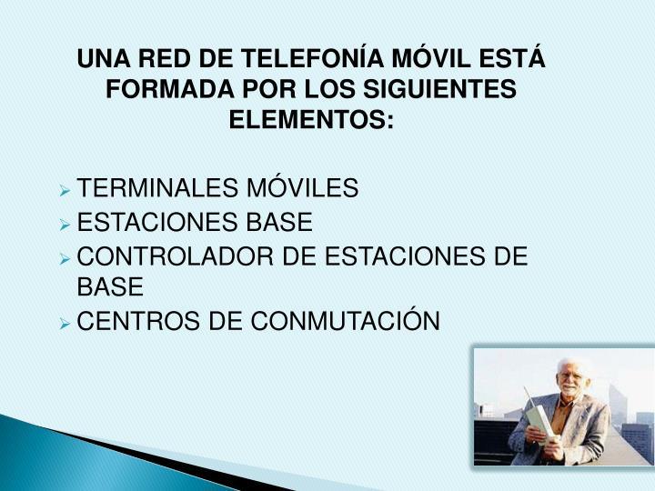 UNA RED DE TELEFONÍA MÓVIL ESTÁ FORMADA POR LOS SIGUIENTES ELEMENTOS: