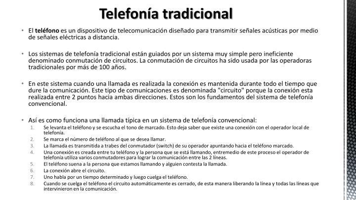 Telefon a tradicional
