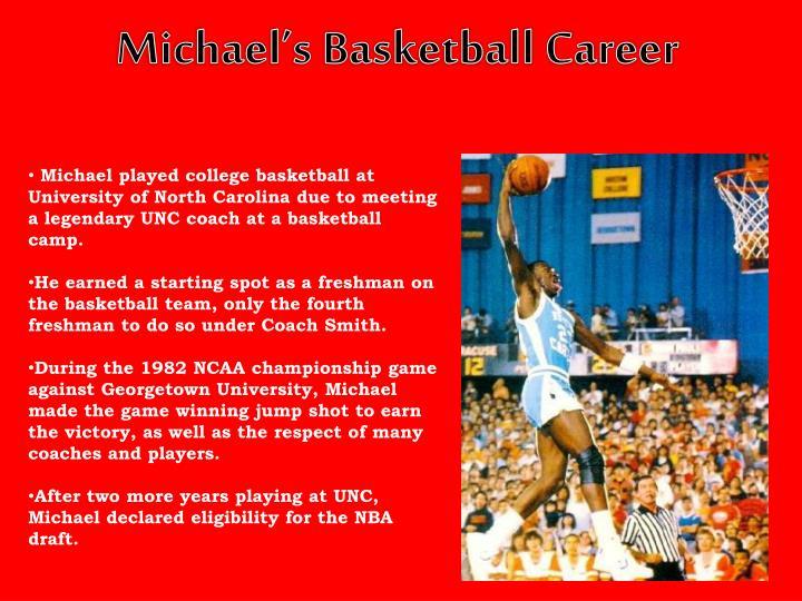 Michael's Basketball Career