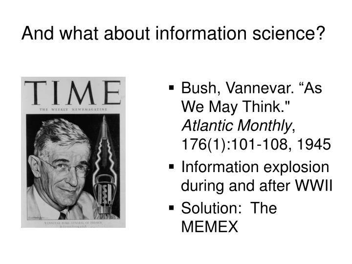And what about information science?