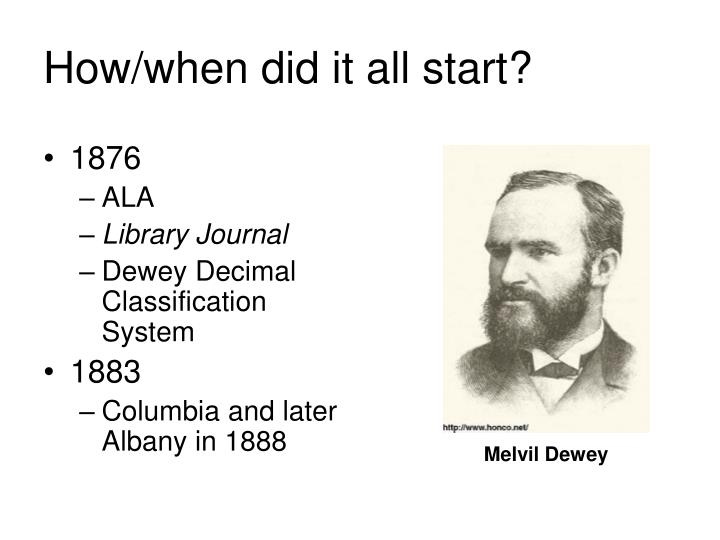 How when did it all start