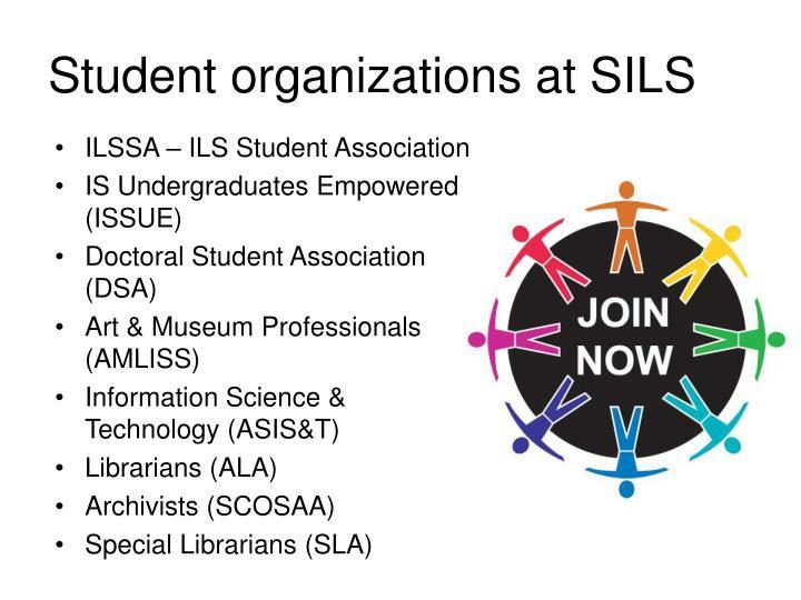 Student organizations at SILS