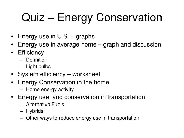 PPT - Energy Conservation Home, School, and Transportation ...