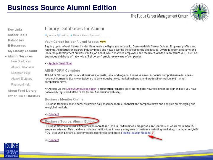 Business Source Alumni Edition